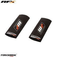 RFX Race Series Forkshrink Upper Fork Guard with WP logo (White/Red) Universal 65cc (12)